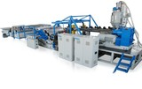 Single layer plastic sheet extrusion line